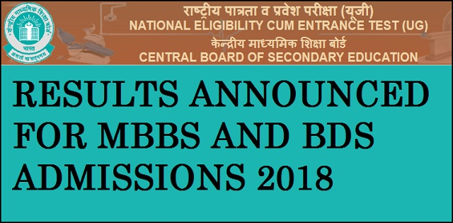 NEET 2018 Results and Toppers list