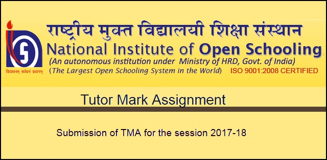 NIOS Tutor Marked Assignments