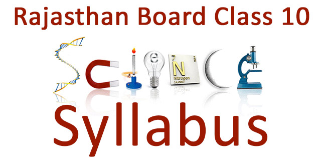 RBSE Class 10 Science Syllabus for Board Exam 2020 PDF