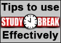 Tips to use study breaks in a productful way