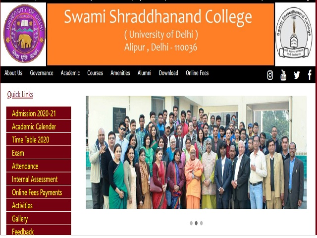 Swami Sharddhanand College Assistant Professor Posts 2020