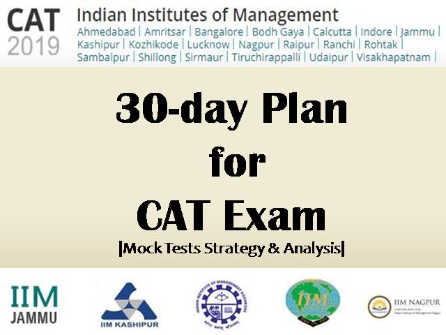 CAT 2019 exam - 30 Days Plan