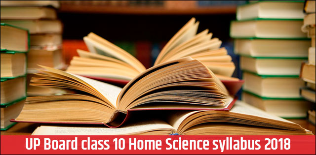 UP Board Class 10th Home Science Syllabus