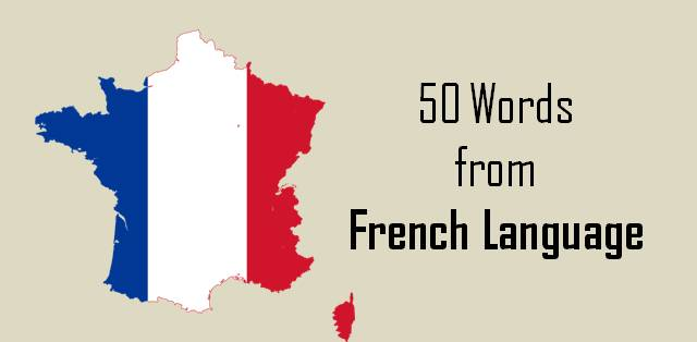 French words from english language