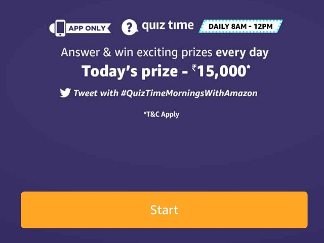 Amazon Quiz 11 June 2020 Answers Today Answer Win Rs 15 000