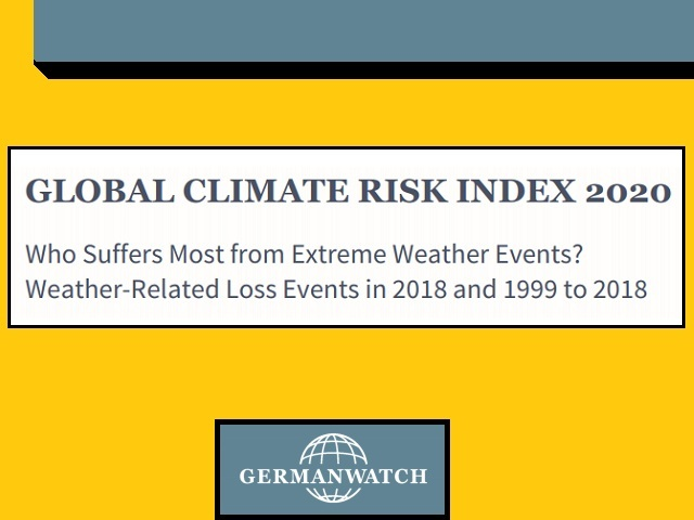 Extreme Weather Events 2020.Global Climate Risk Index 2020 India Fifth Most Affected