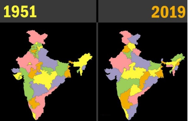 History and date of formation of Indian states since 1947 on map of india provinces, india and its states, india fertility rate by state, central british india provinces,