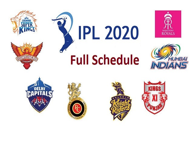 Indian Premier League Ipl 2020 Full Schedule Teams Time Table
