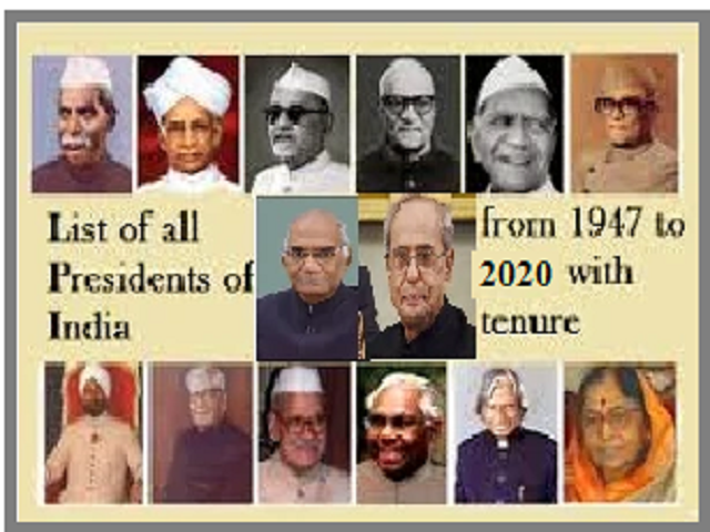List Of All Presidents Of India From 1947 To 2020 With Tenure