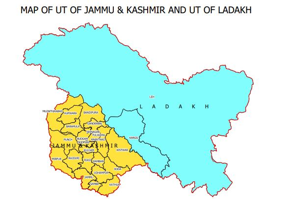 New Map of India: This is how new J&K, Ladakh map looks!