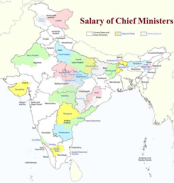 Salary of Chief Ministers of different States in India