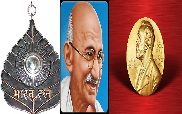 Gandhi ji and Nobel and Bharat Ratna Award