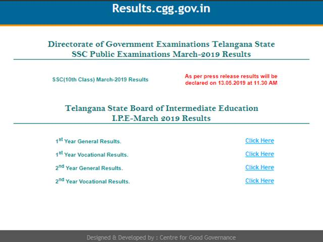TS SSC Result 2019 Live Updates: Result Declared, 92 43